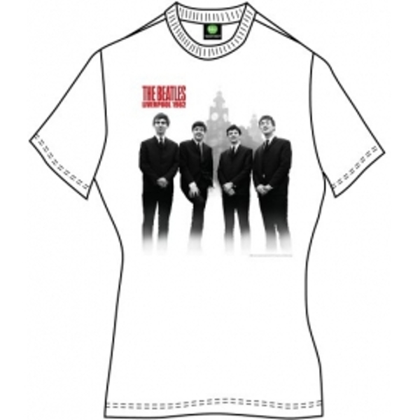 The Beatles The Beatles In Liverpool Ladies White T Shirt