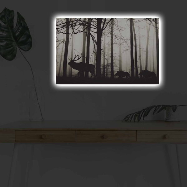 4570DHDACT-080 Multicolor Decorative Led Lighted Canvas Painting