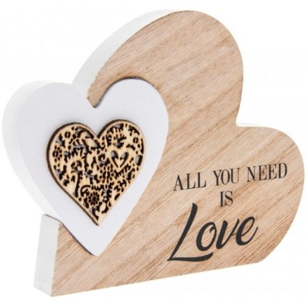 All You Need Is Love' Natural Toned Heart Block