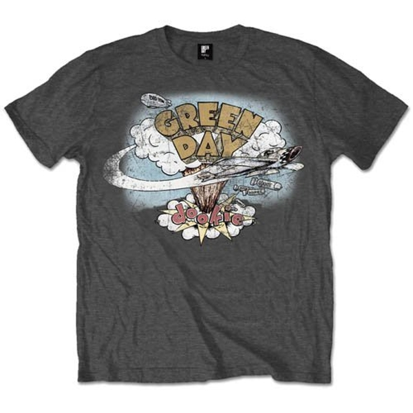 Green Day - Dookie Vintage Men's Small T-Shirt - Grey