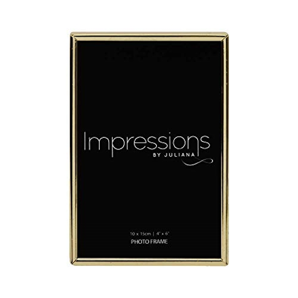 """6"""" x 8"""" - Impressions Brass Plated Thin Photo Frame"""