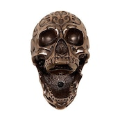 Beer Buddies Bronze Tribal Skull Wall Mounted Bottle Opener