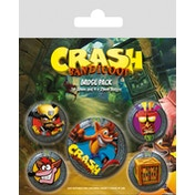 Crash Bandicoot - Pop Out Badge Pack