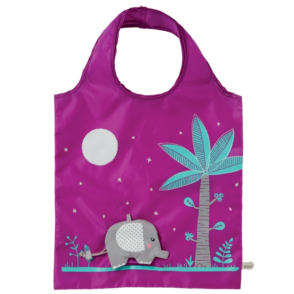 Sass & Belle Elephant Foldable Shopping Bag