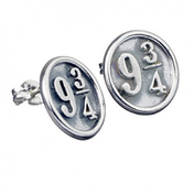Sterling Silver Platform 9 3/4 Stud Earrings