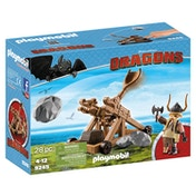 Playmobil DreamWorks Dragons Gobber with Catapult