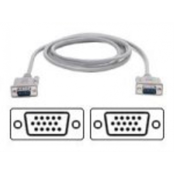 6 ft VGA Monitor Cable HD15 M to M