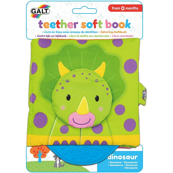 Soft Dinosaur Book Teether Toy