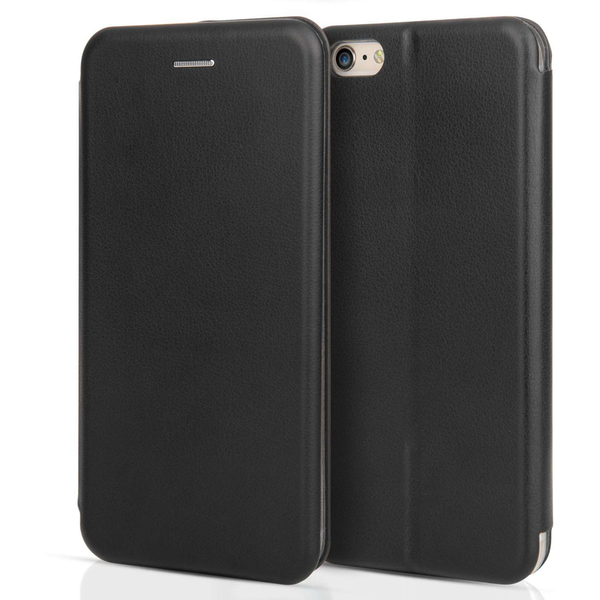 Apple iPhone 6 Plus / 6s Plus PU Leather Stand Wallet with Felt Lining/ID Slots - Black