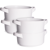 Soup Bowls with Handles - Set of 4 | M&W
