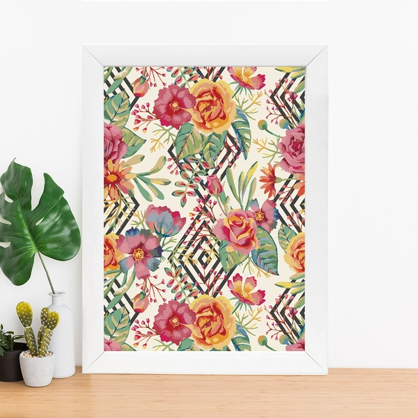 BC293575439 Multicolor Decorative Framed MDF Painting