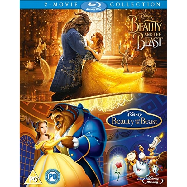 Beauty & The Beast Live Action/Animated Doublepack Blu-ray