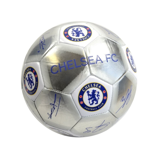 Chelsea Special Edition Signature Football Silver White Size 5
