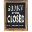 Sorry We Are Closed Wall Sign
