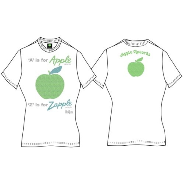 The Beatles - A is for Apple Women's T-Shirt - White