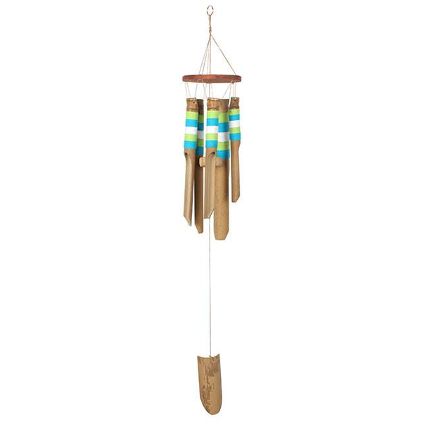Blue and White Bamboo Windchime