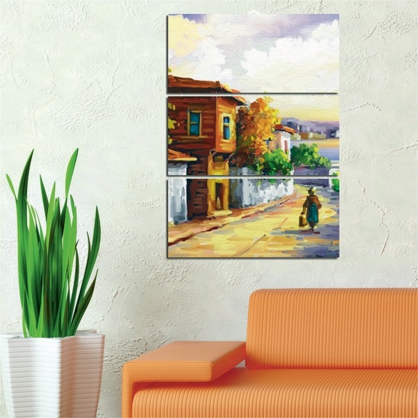 Painted Scene Version 2 Decorative MDF Painting (3 Pieces)