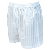 Precision Striped Continental Football Shorts 18-20 inch White