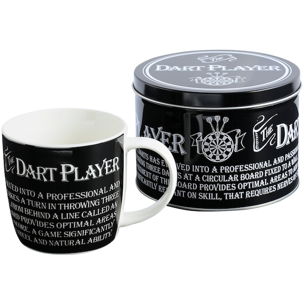Ultimate Gift for Man Mug in a Tin Dart Player