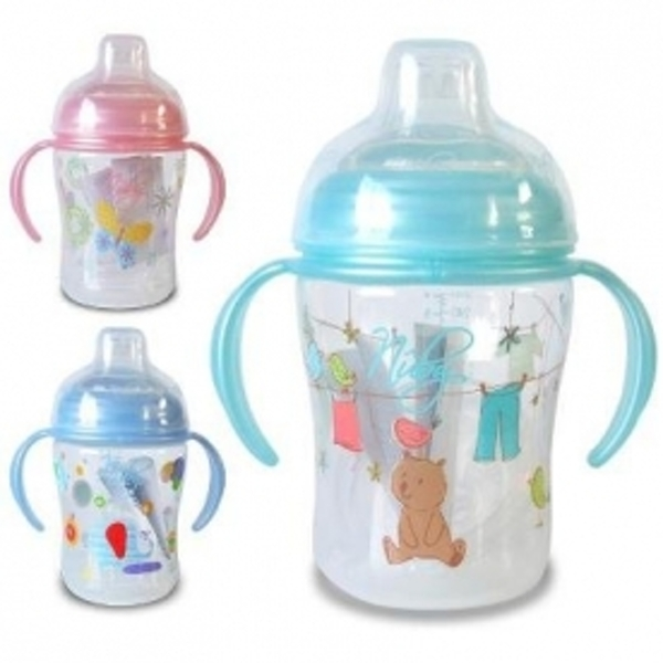 Nuby Natural Touch First Cup - Aqua/Blue/Pink (Random colour supplied)
