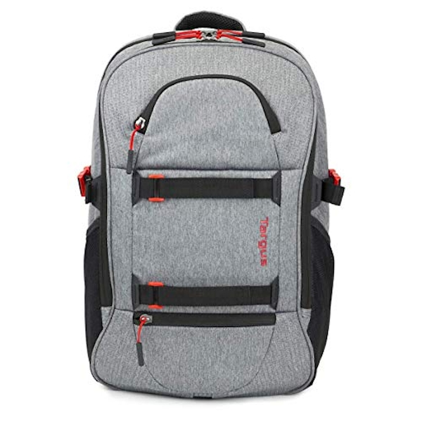 Targus Urban Explorer Backpack with Protective Sleeve Designed for Travel and Ourdoor Commute fits up to 15-Inch Laptop, Grey (TSB89704EU)