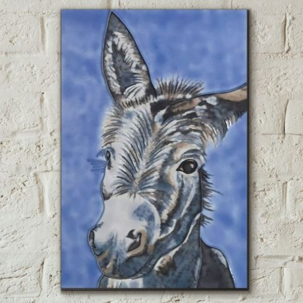 Tile 8x12 Wonky Donkey By S Fenner Wall Art