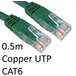 RJ45 (M) to RJ45 (M) CAT6 0.5m Green OEM Moulded Boot Copper UTP Network Cable - Image 2