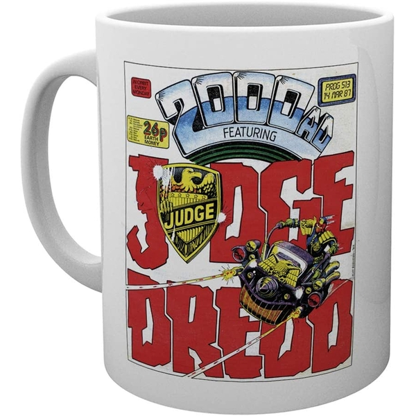 2000AD Judge Dredd Badge Ceramic Mug