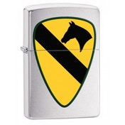 Zippo US Army 1st Cavarlry Brushed Chrome