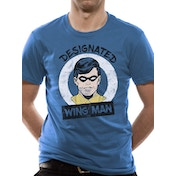 Batman - Designated Wing Man Men's Small T-shirt - Blue