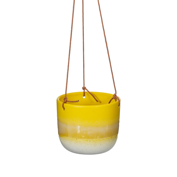 Sass & Belle Mojave Glaze Yellow Hanging Planter