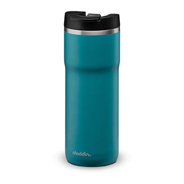 Aladdin Java Thermavac Leak-Lock Stainless Steel Mug 0.47L Aqua Blue