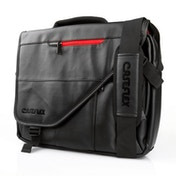 Caseflex Leather-Effect Laptop Messenger Bag - Black