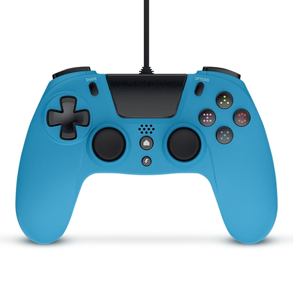 Image of Gioteck VX-4 Wired Controller Blue for PS4