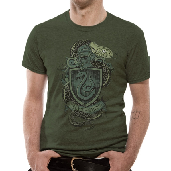 Harry Potter - Slytherin Men's Medium T-Shirt - Green