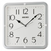 Seiko QXA685S Square Wall Clock with Silver Case