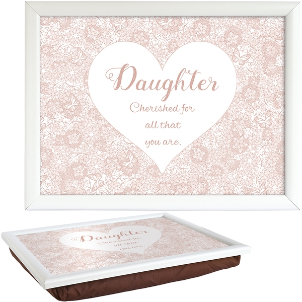 Said with Sentiment Lap Trays Daughter