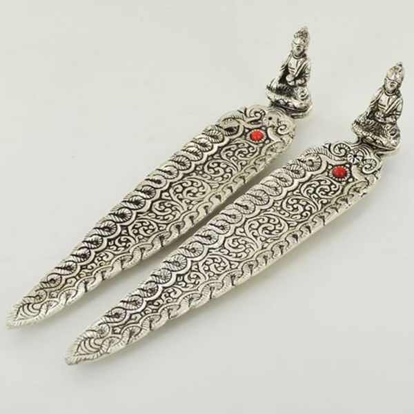 Sitting Buddha Metal Incense Burner Pack (Set of 2)