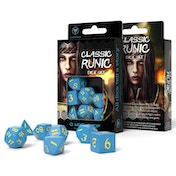 Q-Workshop Classic Runic Blue & Yellow Dice Set (7)