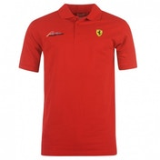 Ferrari Alonso Signature Polo Shirt Large Red