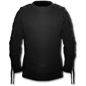 Gothic Rock Laceup Sleeve Men's XX-Large Long Sleeve T-Shirt - Black