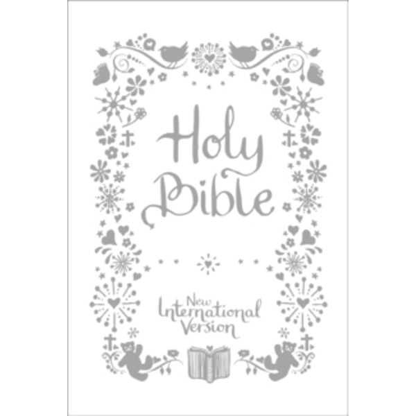 NIV Tiny White Christening Bible by New International Version (Hardback, 2012)