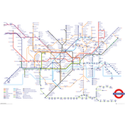 Transport For London Underground Map Maxi Poster