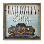 Halloween Party Wooden Light Up Plaque by Heaven Sends