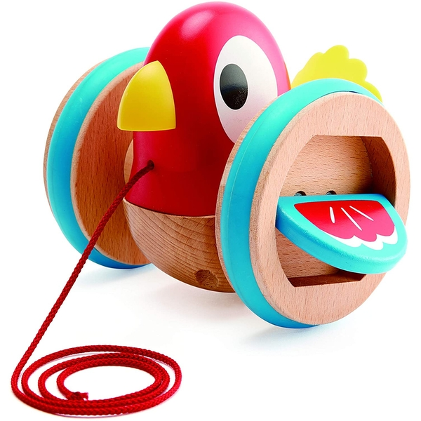 Hape Pull along Bird Wooden Toy