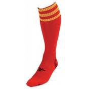 PT 3 Stripe Pro Football Socks Mens Red/Yellow