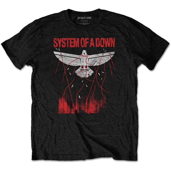System Of A Down - Dove Overcome Men's Large T-Shirt - Black