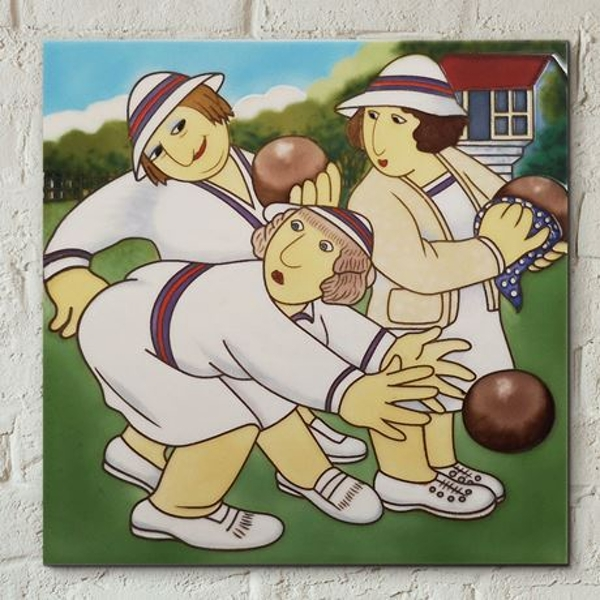 Tile 8x8 Bowlers By Beryl Cook Wall Art