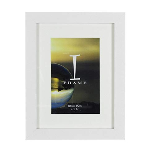 "4"" x 6"" - iFrame Solid White Wood Finish Frame with Mount"