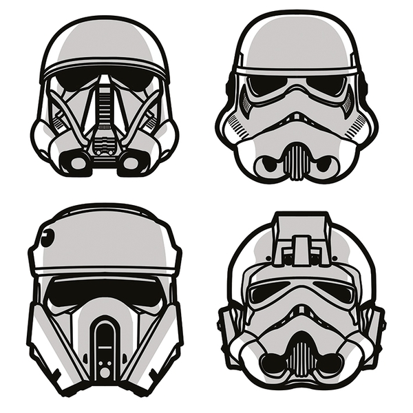 Star Wars Rogue One - Helmets Canvas